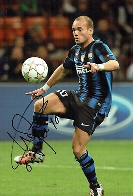 Wesley SNEIJDER Signed Autograph 12x8 Photo 2 AFTAL COA Inter Milan Italy Dutch