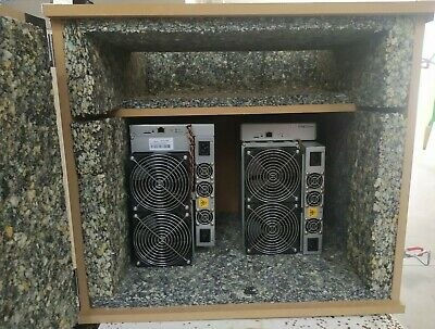 Up to 2 Dual fan miner Antminer S17 T17   Sound proof box