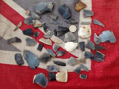 Neolithic flint scrapers, burins and flakes found West Norfolk