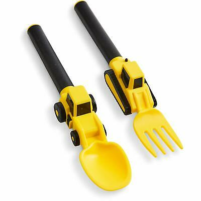 Dinneractive Utensil Set for Kids – Construction Themed Fork and Spoon