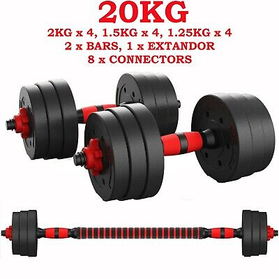 New Fitness 20Kg Dumbells Pair Of Weights Barbell/Dumbbell Body Building Set