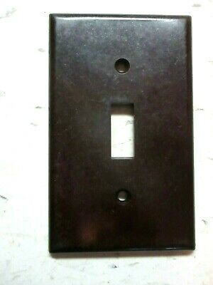 USA Leviton Switch Plate Wall Cover Smooth Brown Bakelite 1 Vintage