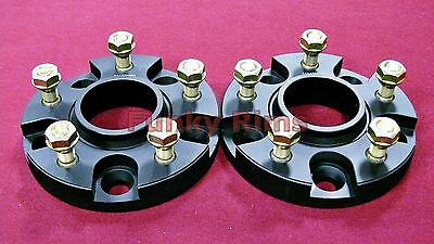 25mm PAIR Hub Centric Bolt On Spacers 66.1mm 5x114.3 FITS NISSAN S14 S15 GTR