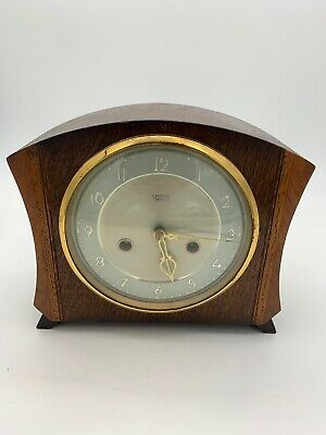 Wooden SMITHS  Enfield Mantle Clock