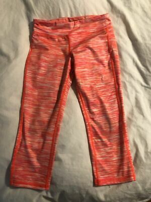 SET OF 2 Old Navy Active Capri  Leggings  GO DRY Sz 10/12 LG  Navy, and Coral