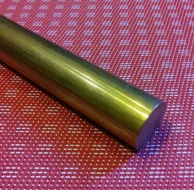 "1"" diameter X 12"" long c360 brass rod new solid round bar stock MT"