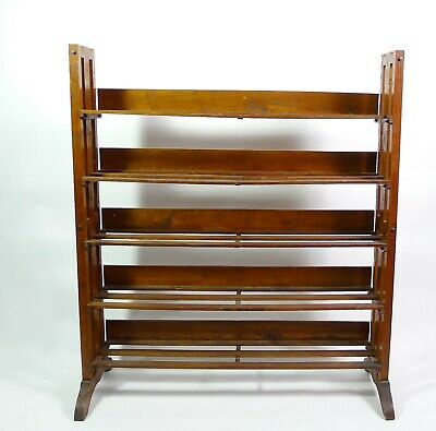 Antique Arts and Crafts Mission  Oak Book Case Shelf Display Unit