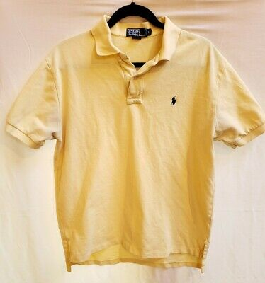 Mens Polo by Ralph Lauren S/S Polo/Golf Shirt Size Large - Yellow - Cotton