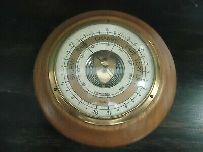 Vintage Round Barometer-1970S-Stormy-Rain-Change-Fair-Very Dry