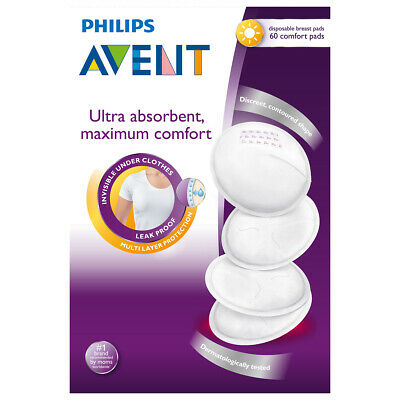 NEW Avent Breast Pad Disposable Day 60 Pack Baby Feeding Accessories