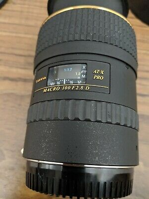 Tokina AF 100mm F2.8 AT-X Macro IF Lens 100/2.8 Canon EF Used once  Mint