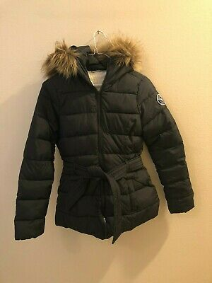Ambercrombie and Fitch Girls Black Jacket with Hood Size Large