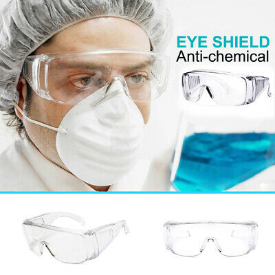 Clear Eye Protection Glasses Safety Goggles Work Medical Industrial Laboratory