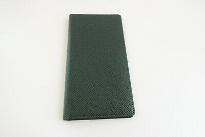 Authentic LOUIS VUITTON Taiga Epicea Green Leather long Wallet  #5295