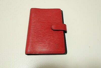 Authentic LOUIS VUITTON Epi Red Agenda PM  #5169