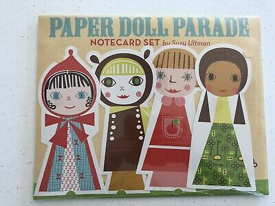 Paper Doll Parade Notecard Set By Suzy Ultman. Chronicle Books. New In Packaging