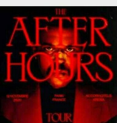 2 Places Carré Or Concert The Weekend The After hours Tour Vend.13 Novembre 2020