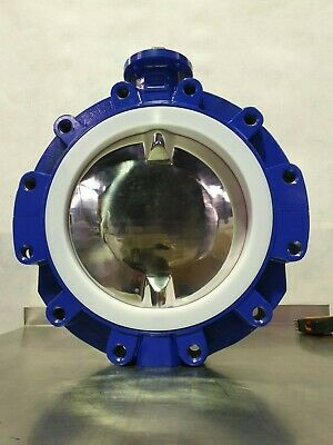 """**NEW** DN300 / 12"""" Lugged Butterfly Valve w PTFE Seat & 316L Disk  **No Handle*"""