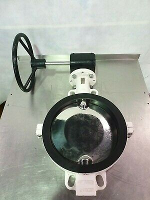 """**NEW** DN300 / 12"""" Neotecha AG Butterfly Valve w 316L Disk & Corrosion resistan"""
