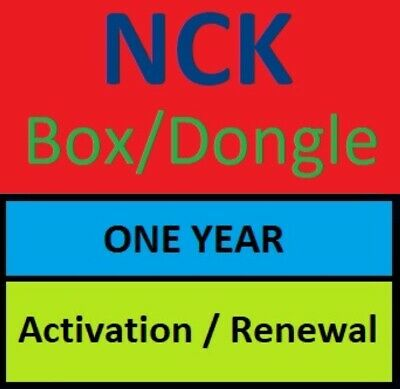 NCK Box/Dongle 1 Year Renewal-Activation !!Fast Service!!