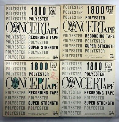 Lot of 4 Reel to Reel Tape Radio Shack Concertape Prerecorded Used