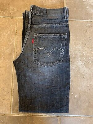 Levi Strauss 527 Low Bootcut Red Tab Jean - W27-28 L26.5 - Dark Grey