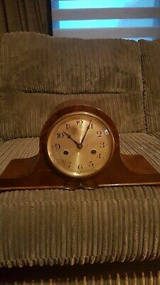 napoleon hat mantle clock for restoration or spares and repairs