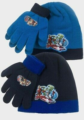 Boys Avengers Knitted Hat And Gloves Set One Size From 3 to 10 Years 780210