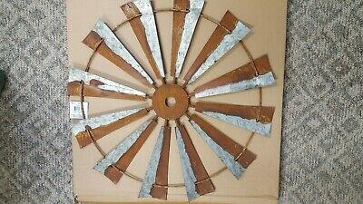 """Rustic Metal large 24"""" Windmill Wall Art Antiqued Barn Farmhouse country Decor"""