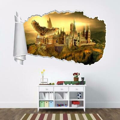 Hogwarts Harry Potter 3D Torn Hole Wall Sticker Decal Home Decor Art Mural WT114