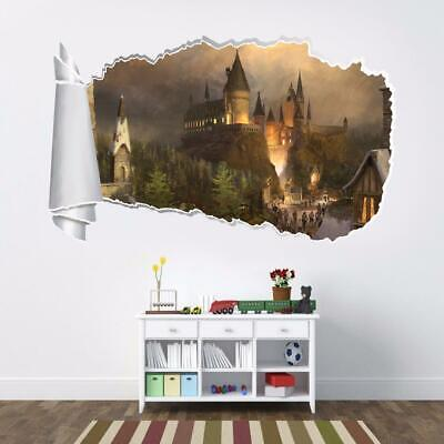 Hogwarts Harry Potter 3D Torn Hole Wall Sticker Decal Home Decor Art Mural WT115