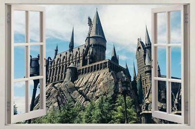 Hogwarts Castle Harry Potter 3D Window Decal Wall Sticker Home Decor Art J258