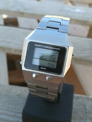 Rare Vintage Lcd Guarda Val Ag Swiss Watch