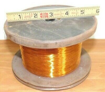 Vintage 6.3 lbs. Belden Manufacturing Co Enameled Copper Magnet Wire No. 54-1/2A