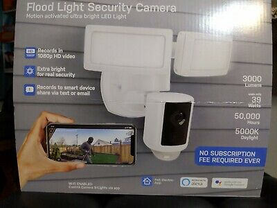 Feit Electric LED Dual Head Motion Sensor Smart Floodlight w/ Security Camera