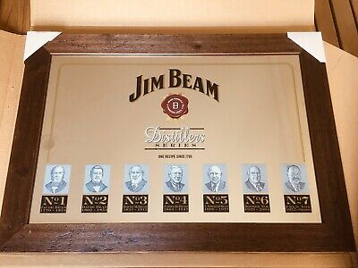 Jim Beam Distillers Series Bar Mirror - Rare Brand New