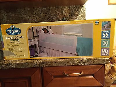 """Regalo Swing Down Extra Long Portable Bed Rail 56"""" Local pickup only!!!!"""