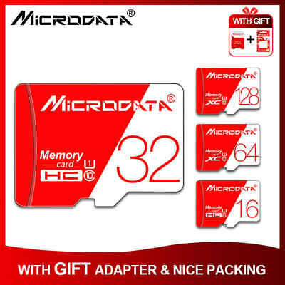 Micro Data Micro SD Card TF Card 64GB 128GB 256GB Class 10 Memory High Speed