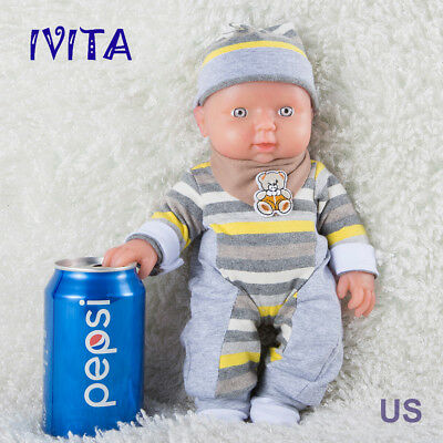 """IVITA 12"""" Reborn Baby Doll Girl Full Body Silicone Adorable Baby Toy 1200g"""