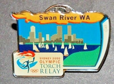 Olympic Games  - Sydney  2000 - Torch Relay- Swan River WA Pin / Badge