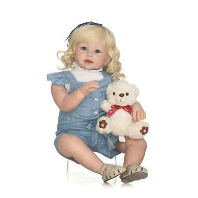 80cm Cute Toddler Doll Reborn Baby Doll Kids Gift Toy Props Silicone Baby Doll
