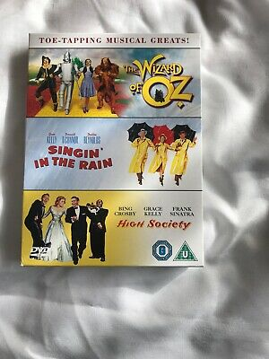 The Wizard Of Oz - Singin In The Rain - High Society DVD 3 Disc set (New)