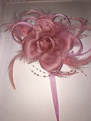 Flower Feather Bead Corsage Hair Clips Fascinator Hairband and Pin Wedding