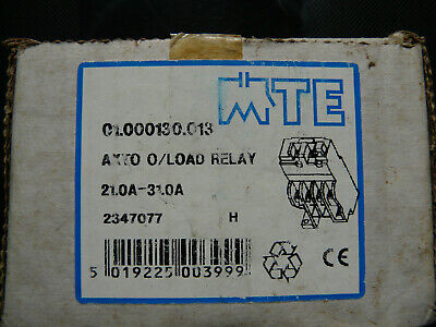 MTE Axto 01000130-013-21 to 31 Amps- Overload Relay
