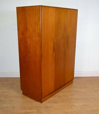 G PLAN Bi Folding Triple Wardrobe, Fresco, Teak, Mid Century, 1960s
