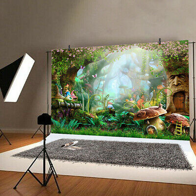Fairytale Forest Happy Birthday Party Backdrop Studio Photo Background Decorate