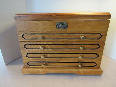 Thomas Museum Series Wooden Jewelry Box with side handles -
