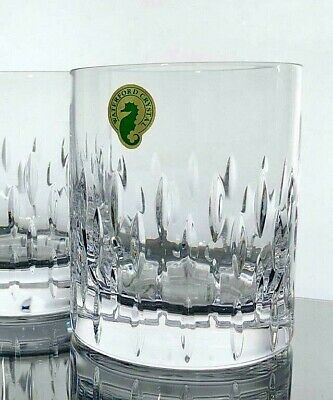 WATERFORD Crystal Enis Bolton Cluin Double Old Fashioned Whisky Glass Patterns