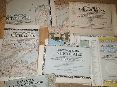 11 National Geographic Maps From The 1940's