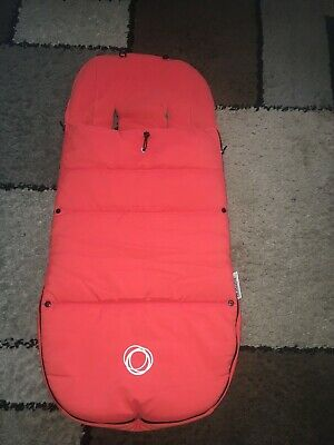 Bugaboo Universal Footmuff /Cosy Toes In Orange  Good Condition.